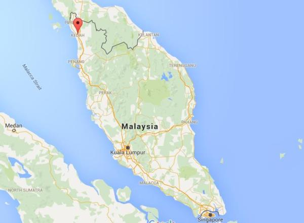 Where is Alor Setar on map Malaysia