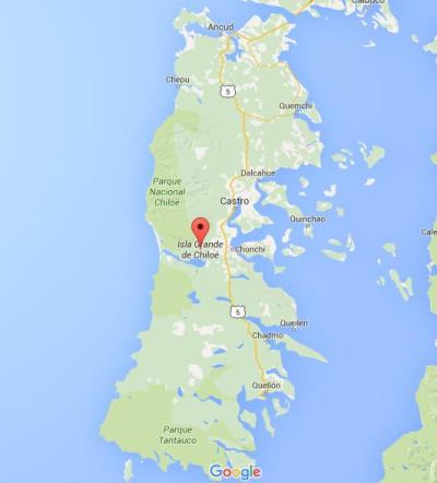 Map of Chiloe Island