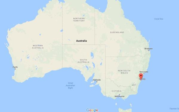Where is Kiama Blowhole on map Australia