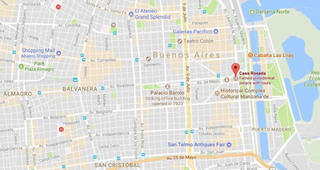 Casa Rosada Maps