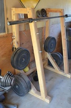 how to build a squat rack out of wood