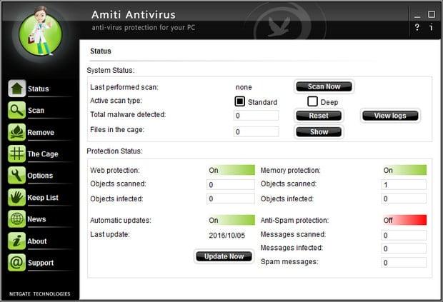 NETGATE Amiti Antivirus 24.0.700 free download 2018
