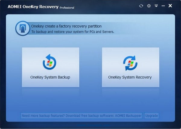 AOMEI OneKey Recovery Professional 1.6.2