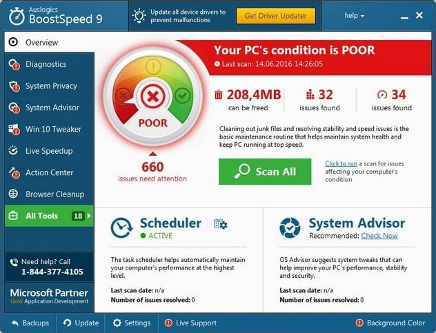 Auslogics BoostSpeed v10.0.6.0