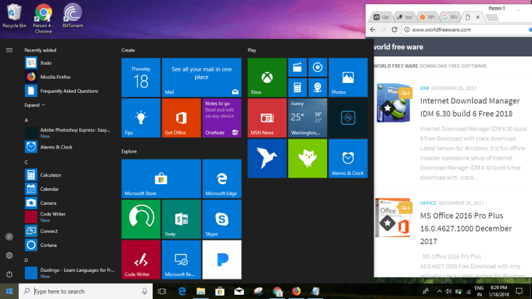 Windows 10 RS3 AIO crack download