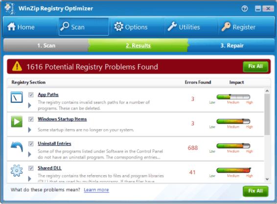 WinZip Registry Optimizer 4 crack download