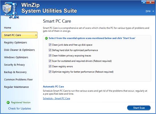 WinZip System Utilities Suite 3 free download