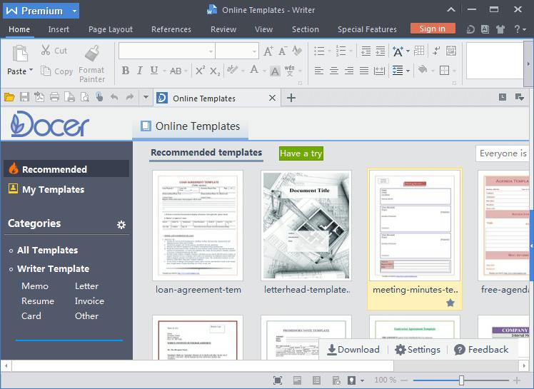 WPS Office 2016 Premium 10.2.0.5996