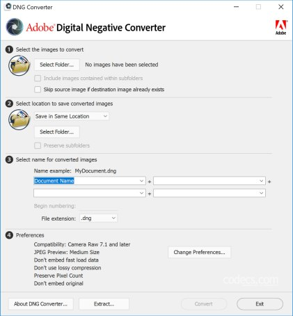 Adobe DNG Converter 10.2 Free Download For Mac