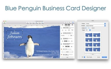 Blue Penguin Business Card Designer 3 for Mac Free Download