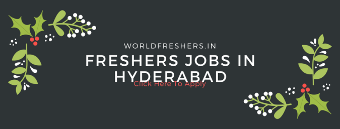 freshers jobs in hyderabad