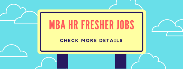 Mba Hr Fresher Jobs