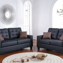 Sectional With Sleeper Sofa And Recliner Inflatable Wilkinsons Poundex, Timberland 2 Pcs Set Black, F7855