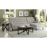 natalia leather and chenille sofa cream pillows world furniture - shop online store ...