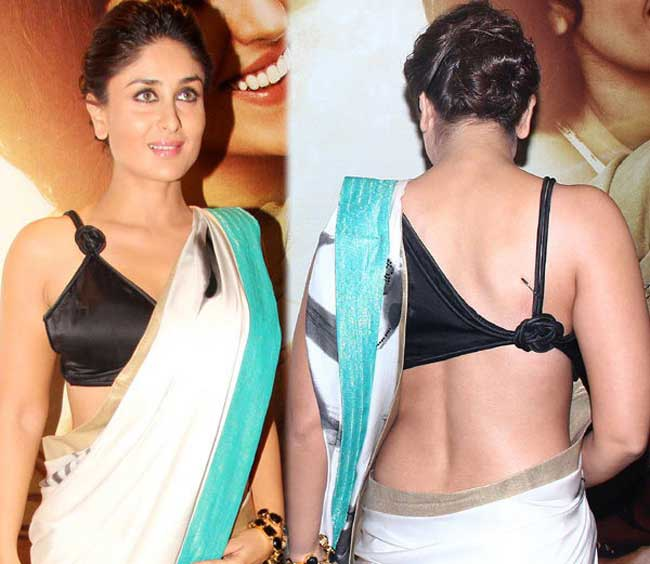 Kareena Kapoor Glamours Saree Looking Hot Bollywood Superstar