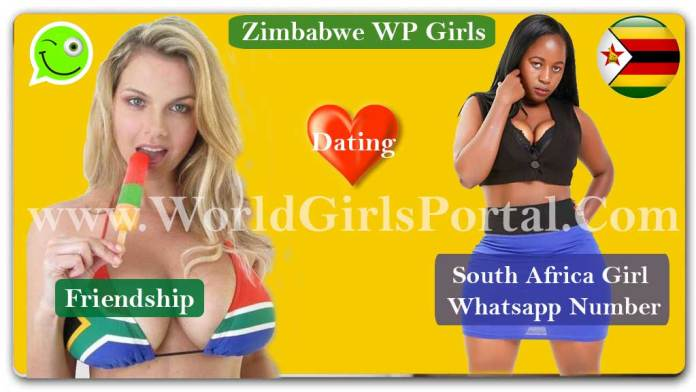 Zimbabwe Girls Whatsapp Number For Friendship South African Girl Mobile No IMO