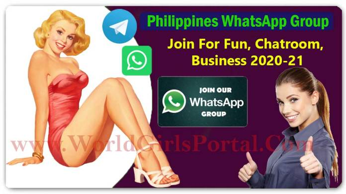 Philippines WhatsApp Group Collection To Join For Fun, Chatroom, Business 2020-21