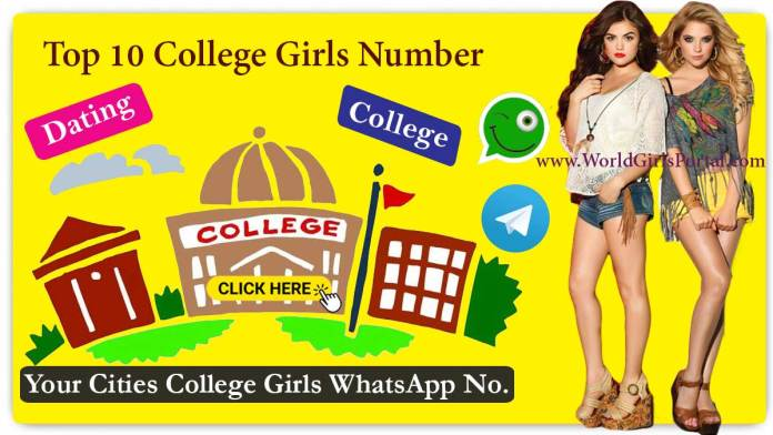 Top 10 College Girls Numbers for Friendship - Dating - Chatting - Near by You World Fun Club - World Girls Portal