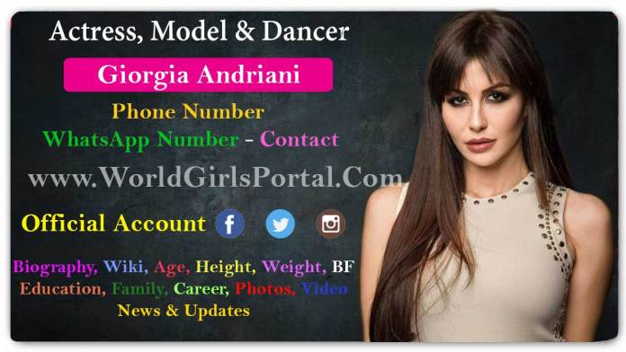 Giorgia Andriani Contact Details, WhatsApp Number, Home & Office Address, Email Id, Official Social Media Account - World Girls Portal