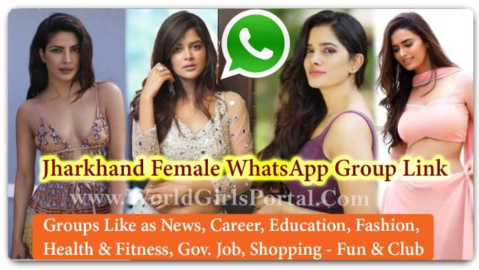 Jharkhand Female WhatsApp Group Link Join for Jobs - Life Partner - Business IDEA - World India Girls Social Media Portal