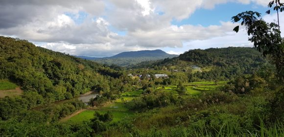 The Panoramic view of Sela'an Kayan village, Ulu Baram