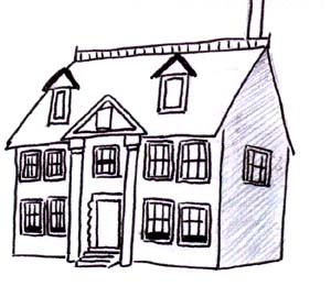 Colonial Revival House Coloring Pages