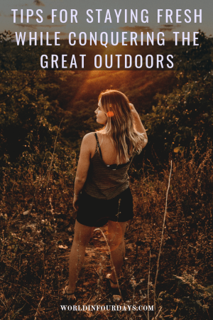 Summer is right around the corner which means it's the perfect time to hit the outdoors for some camping. Head to my blog and read my tips for staying fresh even when I don't have access to a shower thanks to #SummersEve FreshCycle. #SEFreshAF