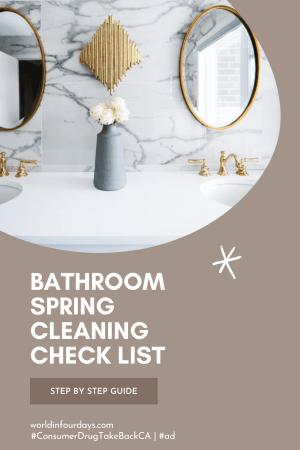 Bathroom Spring Cleaning Checklist - Drug Take Back