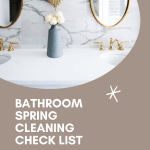 Bathroom Spring Cleaning Checklist - Drug Take Back