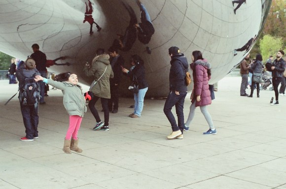 Posing at Cloud Gate