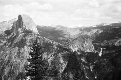 Glacier Point - Half Dome, Yosemite, and Vernal Falls