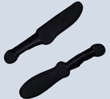 Rubber training knives