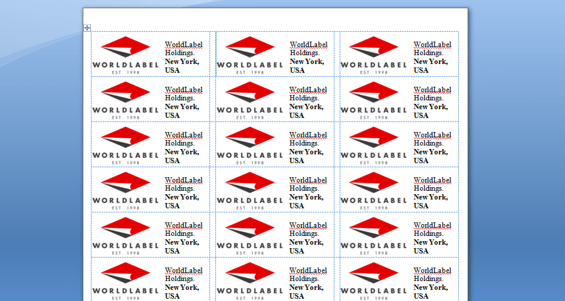 hight resolution of keep doing this until all of the labels on your page are populated once completed you re ready to print your page of labels
