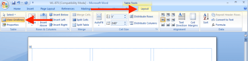 small resolution of before you start download a label template from our downloads page and open it in microsoft word then click layout from the office ribbon and select view