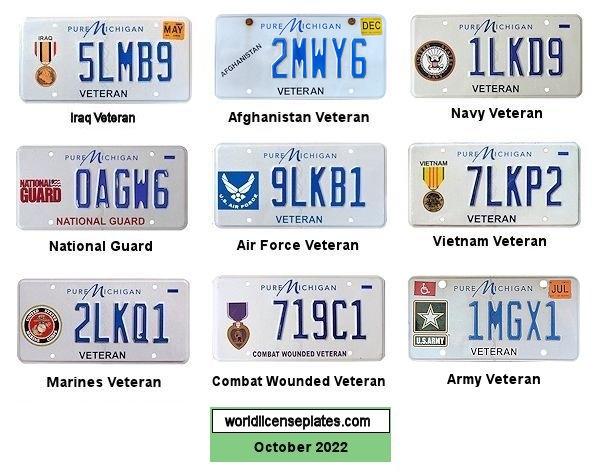 Plate Michigan History License
