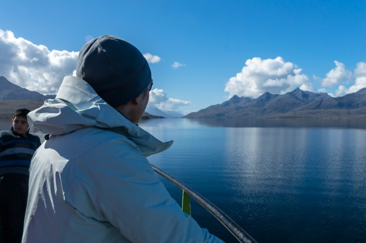Clear weather and calm water travelling through Patagonia on the TABSA ferry between Punta Arenas and Puerto Williams.