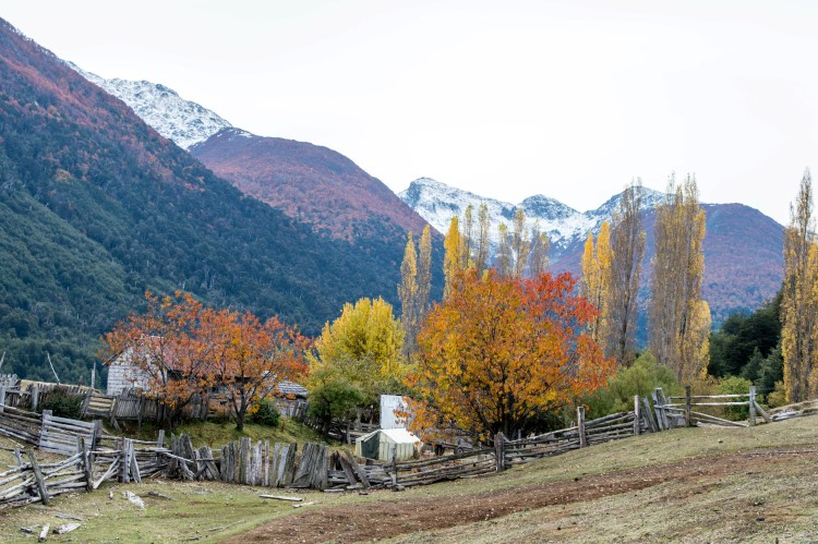 Futaleufu, a pretty village known for its white-water rafting, in fall.