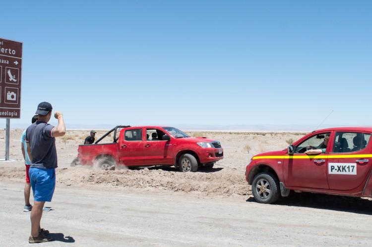 Hiring a 4x4 car from San Pedro de Atacama to visit the Atacama Desert, Chile