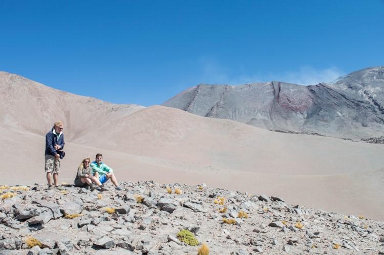 Hiking volcanos: one of the top things to do in Atacama Desert near San Pedro de Atacama, Chile