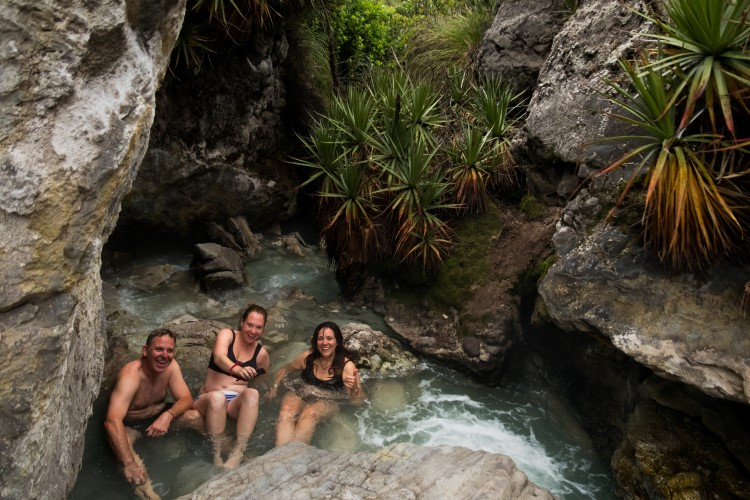 The thermal springs in El Sifon near Murillo
