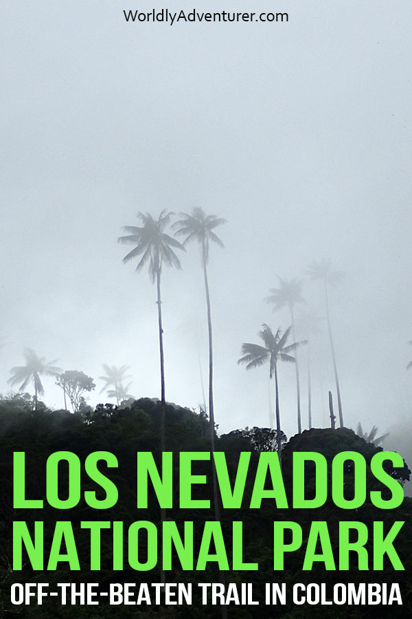 Everything you need to know about one of Colombia's most beautiful off-the-gringo-trail national parks. Expect stunning scenery, towering wax palms, secret natural hot-springs and one of Colombia's highest and most active volcanos 'Nevado del Ruiz' in Los Nevados Nationals Park and find all the information about visiting without a tour in this complete guide. #colombia #losnevados #hiking #southamericatravel #colombiatravel #trekking #offthegringotrail #adventuretravel