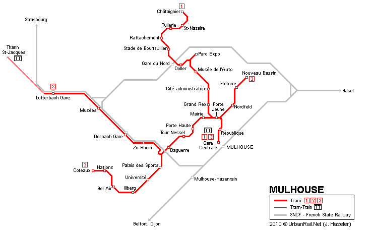 Mulhouse Map