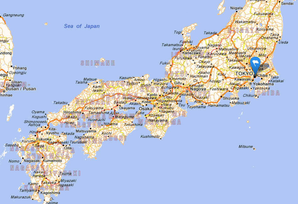 Geographical Map Japan