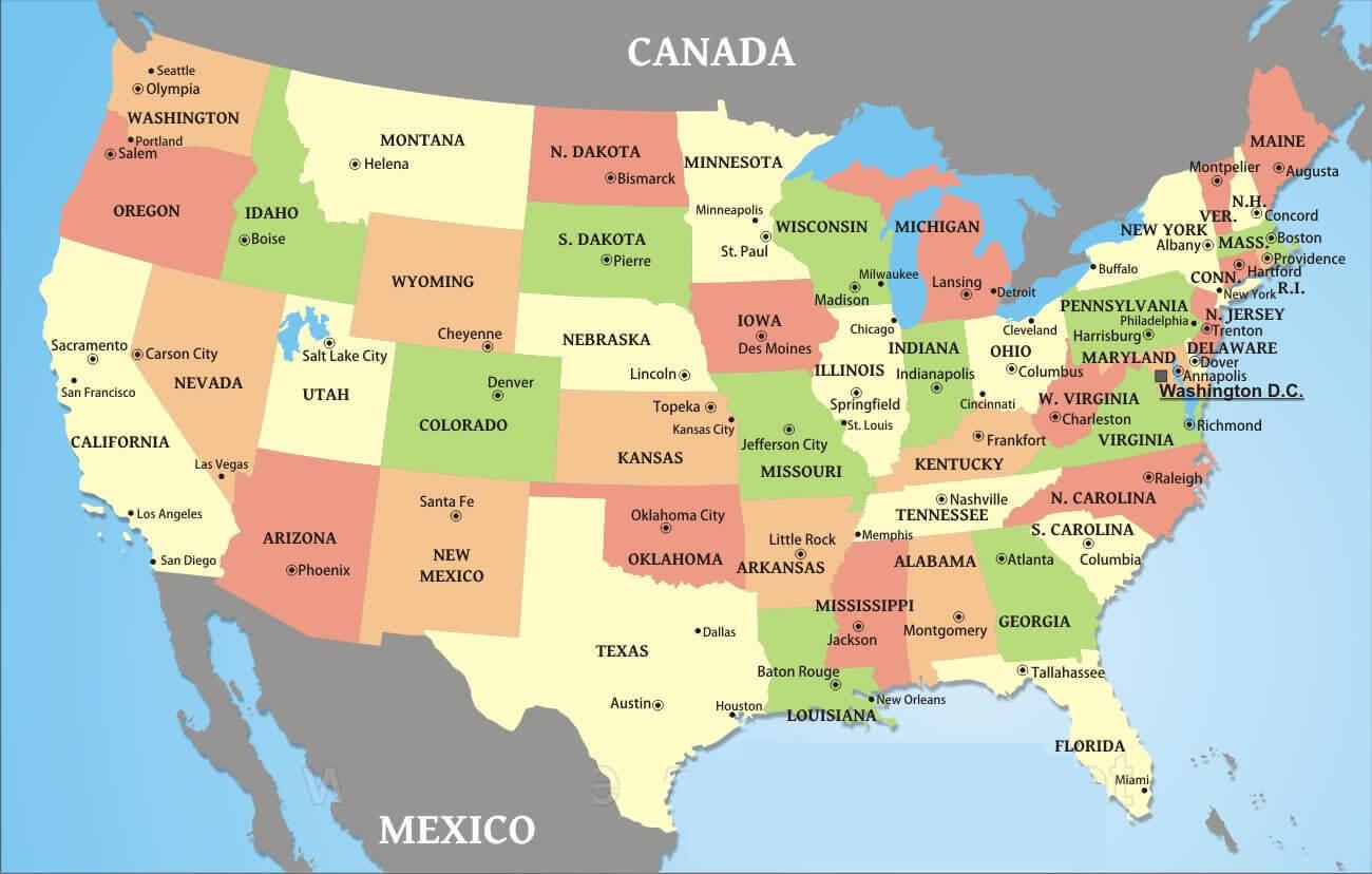 Usa Large Wall Map
