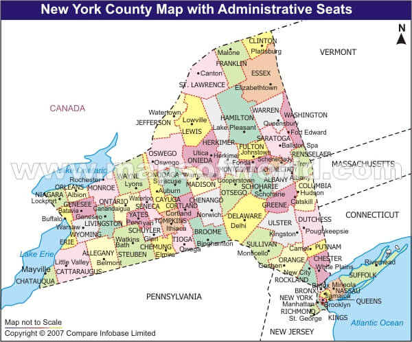 New York County Map US