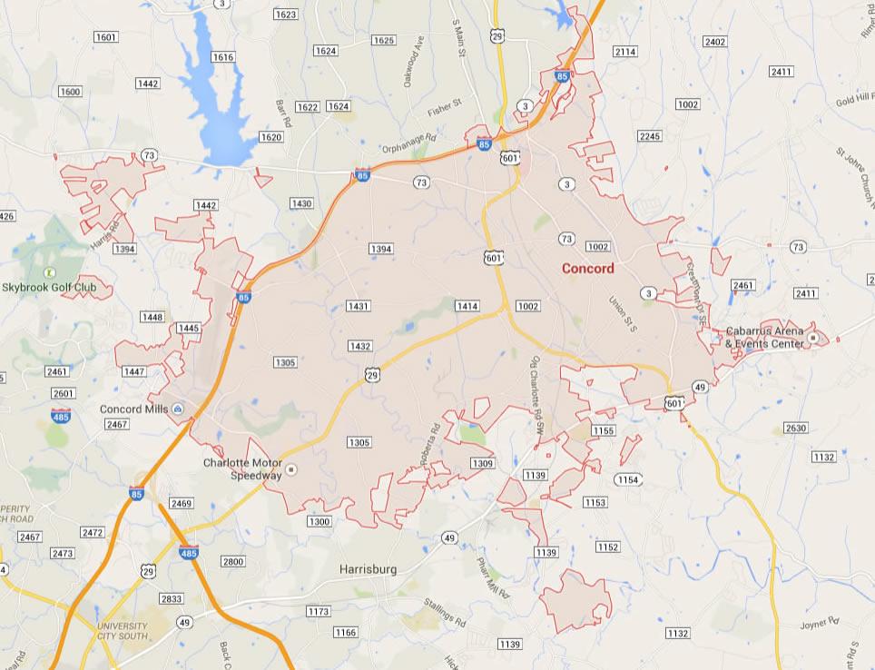 Maps Gastonia Nc