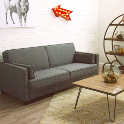 Charcoal Gray Sofa Bed Wood Philippines Nolee Folding World Market