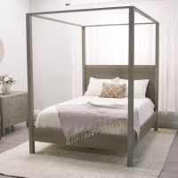 Gray Marlon Queen Canopy Bed | World Market