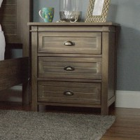 Gray Wood Layne Nightstand | World Market