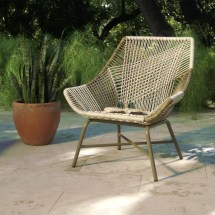 Gray Woven Weather Wicker Andalusia Outdoor Chair